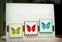 Schmetterling Karte in weiß grün  Türkis