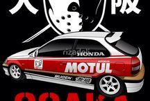 Désigne affiche Honda