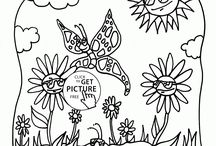 Seasons coloring pages / Spring coloring pages, summer coloring pages, fall coloring pages, autumn coloring pages, winter coloring pages