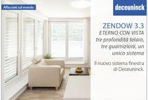 Zendow 3.3 Eterno con vista /  Tre profondità telaio, tre guarnizioni, un unico sistema. Il nuovo  #serramento da #Deceuninck per le tue #finestre.
