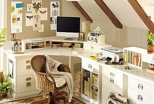 Head Quarter Office / Home office for our business. Ideas for decor, storage, & furniture style. / by Crystal Villela Melendez