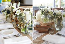 Rustic Wedding Ideas / Rustic Inspired Wedding Ideas.  Whether your wedding is outdoors, in a barn or at a country venue - here are some ideas for you