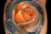 Tatuaggi a fiore 3d