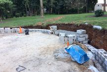 South Road / A new Patio, Pergola and stone wall in the country