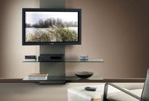 soportes LCD con estantes