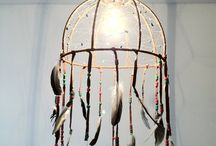 feather hanging pendent/dream catcher