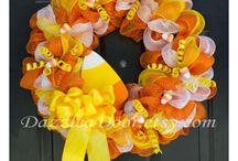 candycorn wreath