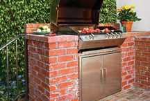 Outdoor bbq and kitchens
