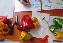 A' BRIGAT' CRUSC' / Board per foto e ricette della brigata di cucina A' BRIGAT' CRUSC'. (Daniele - Enza - Andrea - Mateo)