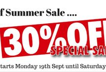 Sale Board / Our online sale is now on, ends 1st Oct.  Great deals and great savings to be had