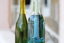 recycling glass bottle