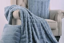 BOON Throw & Blanket Rabbit Faux Fur Throws / The miraculous faux fur that stretches across the blanket and throw pillows is overly soft and plush. A wide stripe pattern covers each piece giving a desired texture that fit most Home Decor, specifically modern styles. Not only is this set an eye appealing accent but can be used for warmth and cuddles.