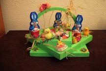 Mes décos de Pâques / Découpes de polystyrène décorées