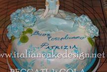 Torta Cenerentola doppio strato di crema diplomatica alla vaniglia e fragole fresche