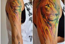 Татуировки со знаком льва