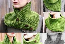 bufandas tejidas palillo
