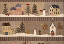 patchwork houses / for baby quilts