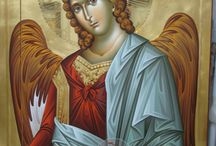 Archangels, angels, seraphim, cherubim and thrones