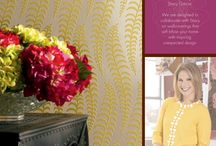 "Dream Design:  Stacy Garcia for York Wallcoverings / ""Stacy Garcia offers fresh modern signature style for residential and commercial interiors."" - York Wallcoverings / by York Home"