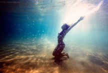beneath the blue / where mermaids live. / by Jonquil Wong