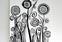 desenho branco e preto