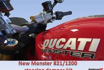 Ducati Monster Steering Damper Fitting Kit / Fitting Kit for Ducati Monster 821/1200/1200S steering damper