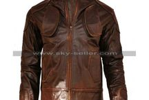 Lockout Guy Pearce Ditressed Leather Jacket / Get this Snow Lockout Brown Leather Jacket at most Cheap price from Sky-Seller and avail free Shipping.