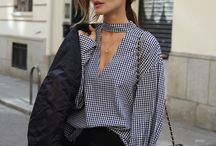 Blouse - checked