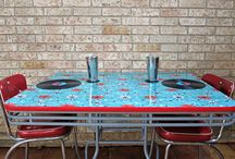 Decoupaged Tables