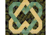 Quilt blocks and Free motion Quilting designs.