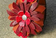 Leather flowers / Leather flowers and more leather