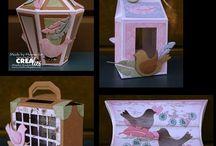 Crealies Create A Box Mini Dies Creations
