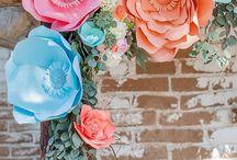 Цветы бумага