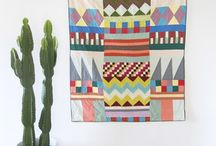 textile love / Quilts, woven wall hangings, tapestries, fabric / by Samantha Cisneros