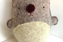 FELT & WOODEN CREATURES / needle felt projects inspired by Waldorf / by Ancient Amber <<