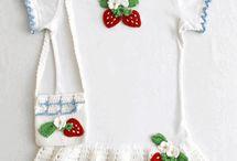 robe crochet baby