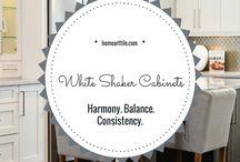 White Shaker Cabinets Kitchen Design Ideas