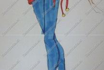 Trabajos Por encargo / Comissions / Algunas muestras de mis trabajos de moda.  Si quieres encargar un dibujo de moda personalizado, sólo contáctame   ------  Some of my fashion draws, if you want one, just contact me.