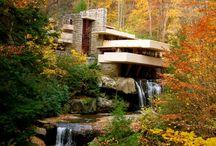 waterfalling house