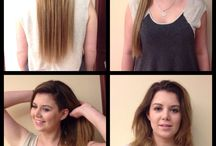 Hair extension transformation / #thickerhair#fullerhair#longerhairwithextensions