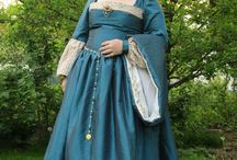 Our costumes / Our Renaissance costumes. Made by my Mom  at the Five petal Rose Festival in the Czech Krumlov.