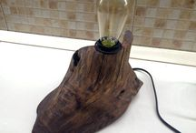 Wooden lamp / Driftwood Lamp / Table Lamp / Decorative Lamp / Rustic lamp / treibholz lampe