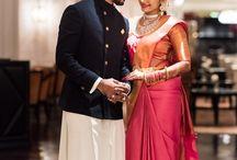 Engagement sarees