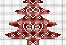 Point de croix - Noël
