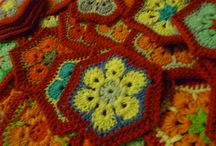Virkade rutor / crochet squares / Mormorsrutor och andra rutor / Grannysquares and other squares / by Kicki Strandqvist