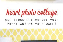 Collages De Fotos Con Forma De Corazón