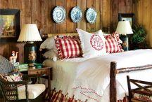 Camere da letto rustiche