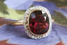 Garnet Finds / One of a kind estate, vintage & antique garnet jewelry from Jewelry Finds®!!!