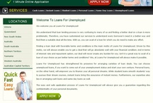 Loans For Unemployed / Loans For Unemployed has strengthened its presence for arranging varieties of loan deals. If you want to come out of your urgent financial needs you can avail Cash Loans, Instant Loans, Personal Loans and Same Day Loans without any hassle. Apply with us and fulfill your needs instantly. www.loansforunemployed.com.au