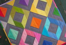 """Solid Inspiration / We're pinning solid quilts to serve as inspiration for our guild members and our Fall Quilt Challenge: """"Not Scared of Solids"""""""